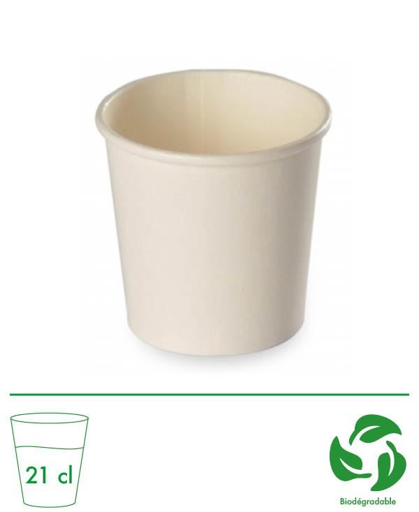 Gobelet carton blanc 21CL -...