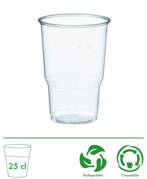 Gobelets PLA Biodégradable 25 cl